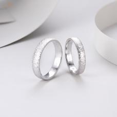 Kelon Diamond Wedding Ring 18K White Gold (Pair)