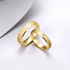 Raei Diamond Wedding Ring 18K Yellow Gold (Pair)