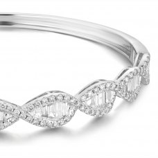 Morsel Channel Diamond Bangle 18K White Gold