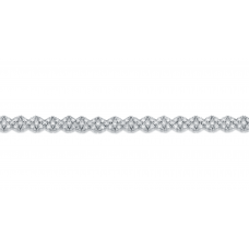 Stately Diamond Bracelet 18K White Gold