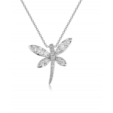 Pabel Butterfly Diamond Pendant 18K White Gold