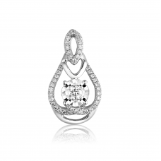 Tempus Illusion Diamond Pendant 18K White Gold