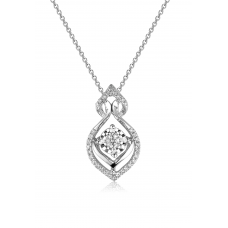 Classico Diamond Pendant 18K White Gold