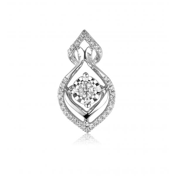 Classico Diamond Pendant 18K White Gold