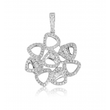 Pendere Diamond Pendant 18K White Gold