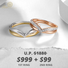 Yoren Diamond Wedding Ring 18K (Pair)