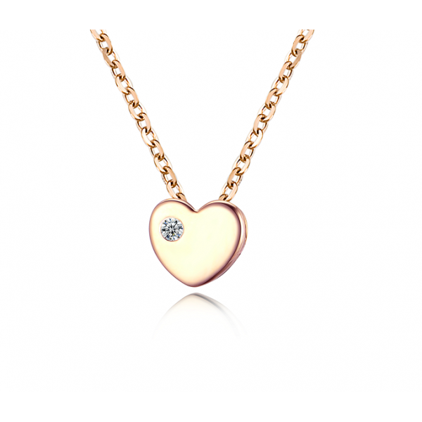 Seo Yeon Bezel Diamond Necklace 14K Rose Gold