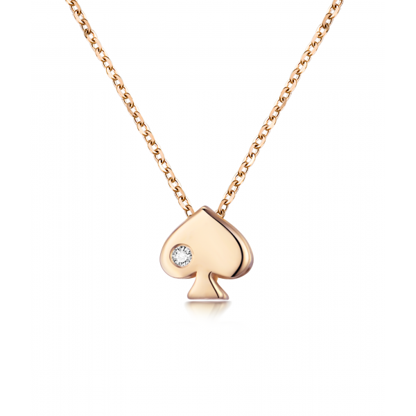 Chae Won Bezel Necklace 14K Rose Gold