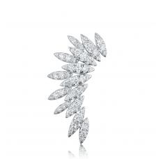 Angel Wing Diamond Earring 18k White Gold