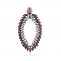 Botany Ruby Diamond Earring 18K Black Gold