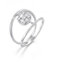 Gorgeous Bing Diamond Ring 18K White Gold