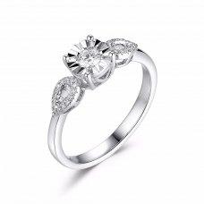 Grandio Illusion Diamond Ring 18k white gold