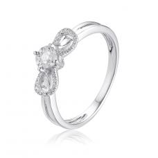 Spire Illusion Diamond Ring 18K White Gold