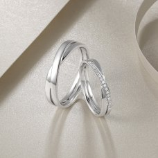 Hemera Diamond Wedding Ring 18K White Gold (Pair)