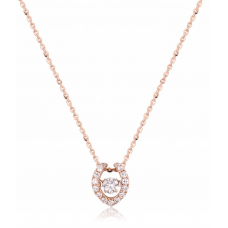 Twinkle Diamond Necklace 18K Rose Gold