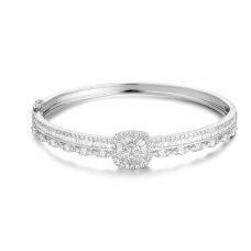 Luxurlicious Diamond Bangle 18K White Gold