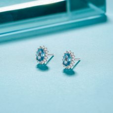 Teimei Gems Diamond Earring 18K White Gold