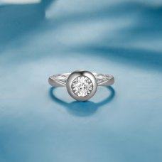 Nevada Diamond Ring 18K White Gold