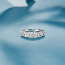 Jacques Diamond Ring 18K White Gold