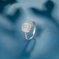 Akley Diamond Ring 18K White Gold