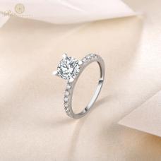 Maya Diamond Engagement Ring Casing 18K White Gold / Platinum