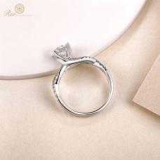 Coyne Diamond Engagement Ring Casing 18K White Gold