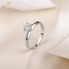 Tiffany Solitaire Engagement Ring Casing 18K White Gold / Platinum