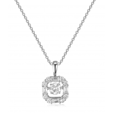 Twinkling Diamond Pendant 18K White Gold