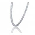 Modesty Ruby Diamond Earring 18K White Gold