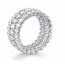 Garland Eternity Diamond Ring 18K White Gold
