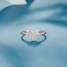 Meto Diamond Ring 18K White Gold