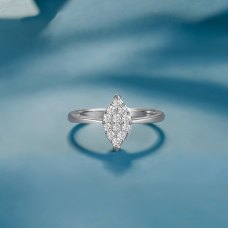 Eason Diamond Ring 18K White Gold