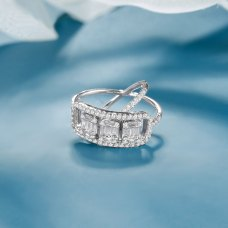 Cassiues Diamond Ring 18k White Gold