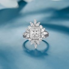 Yogan Diamond Ring 18k White Gold