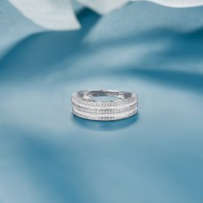 Ninso Diamond Ring 18K White Gold