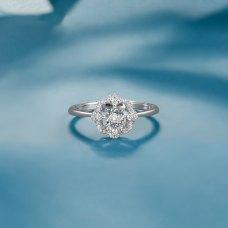 Delio Diamond Ring 18K White Gold