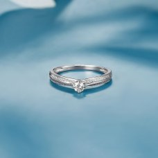 Belisqua Diamond Ring 18K White Gold