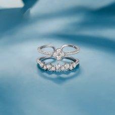 Jenn Diamond Ring 18K White Gold