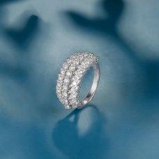 Stanley Diamond Ring 18k White Gold