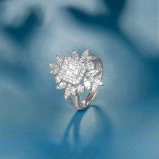 Yogan Diamond Ring 18k White Gold