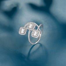 Larine Diamond Ring 18K White Gold