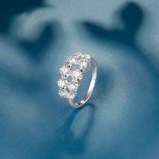 Latone Diamond Ring 18K White Gold
