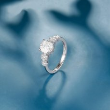 Jermaine Diamond Ring 18K White Gold