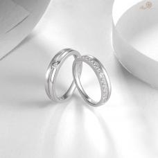 Gianna Diamond Wedding Ring 18K White Gold (Pair)