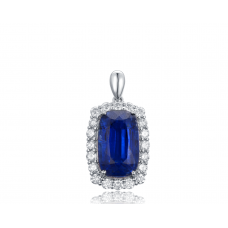 Flavio Kyanite Diamond Pendant 18K White Gold