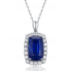 Flavio Kyanite Diamond Pendant 18K White Gold