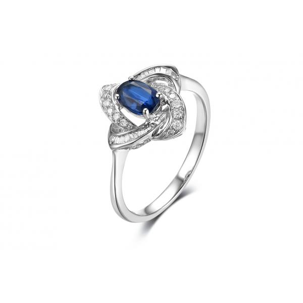 Omura Kyanite Diamond Ring 18K White Gold