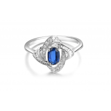 Omura Kyanite Diamond Ring 18K White Gold