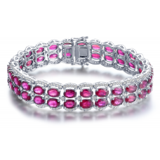 Cohen Ruby Diamond Bracelet 18K White Gold