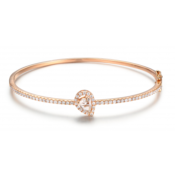 Cassiel Prong Diamond Bangle 18K Rose Gold
